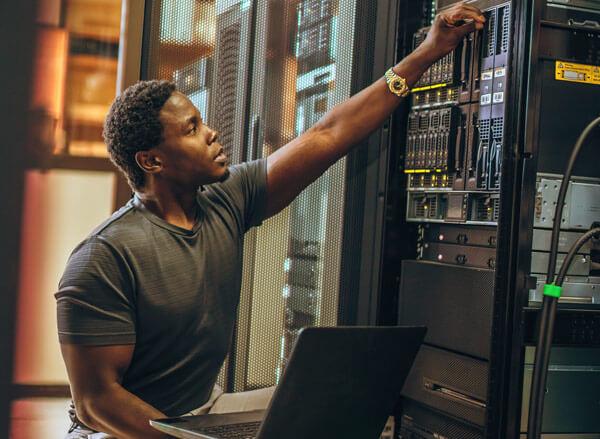 Veteran Working in with IT Server