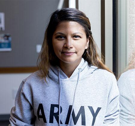 Female army veteran