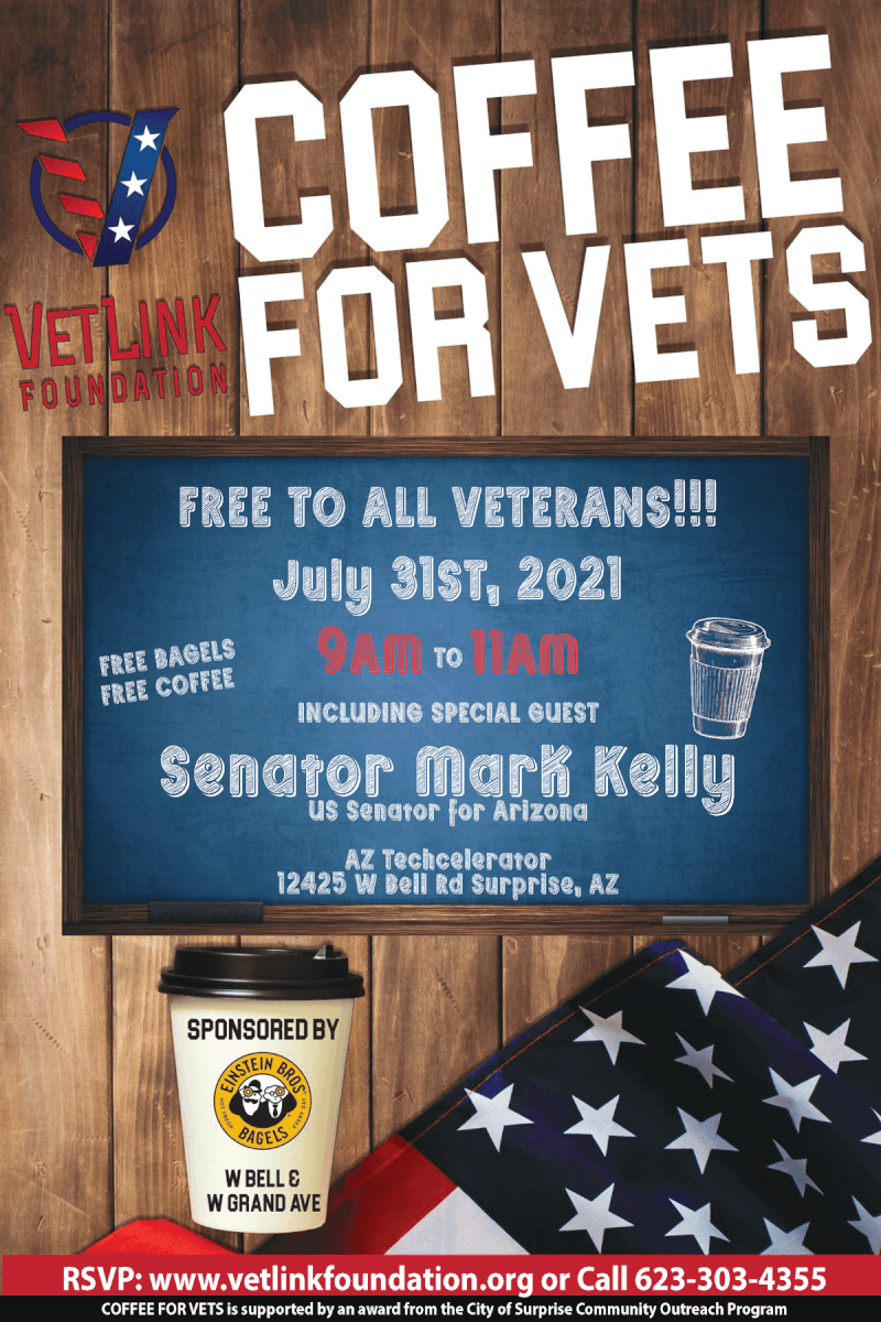 Coffee for Vets with Senator Mark Kelly